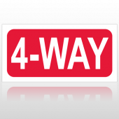 4 Way 10016 Road Sign