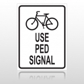Bike Ped 10041 Parking Lot Sign