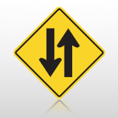 Two Yellow 10009 Road Sign