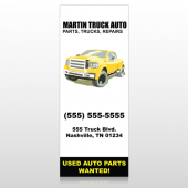 Black & Yellow Truck 117 Banner