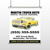 Black & Yellow Truck 117 Hanging Banner