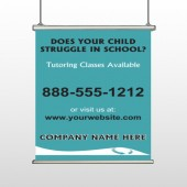Classy Blue 160 Hanging Banner