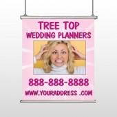 Crazy Wedding 411 Hanging Banner