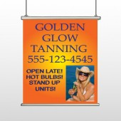 Golden Glow 491 Hanging Banner
