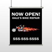 Harley Flames 323 Hanging Banner