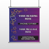 Purple 142 Stripes Hanging Banner