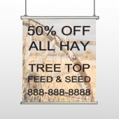 Wood Wheel 413 Hanging Banner