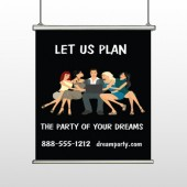 Party Planning 519 Hanging Banner