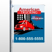 American Truck 295 Pole Banner