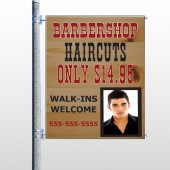 Barbershop Cuts 287 Pole Banner