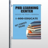 Book Learning 156 Pole Banner