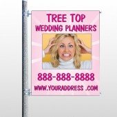 Crazy Wedding 411 Pole Banner