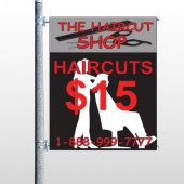 Haircut Scissor 644 Pole Banner