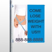 Measure Loss 421 Pole Banner