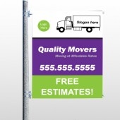 Moving Truck 293 Pole Banner