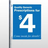 Pharmacy 334 Pole Banner