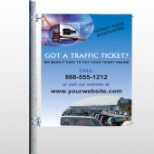 Traffic Cars 151 Pole Banner