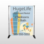 Apartment Building 29 Pocket Banner Stand