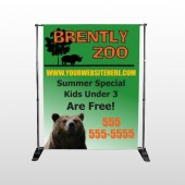 Bear Zoo 302 Pocket Banner Stand