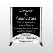 Black Planning 218 Pocket Banner Stand