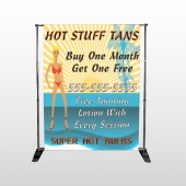 Hot Beach Tan 299 Pocket Banner Stand