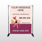 Fashion Shopping 179 Pocket Banner Stand