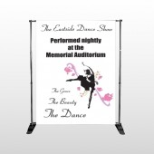 Ballet Dance 517 Pocket Banner Stand