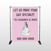 Cake Topper 412 Pocket Banner Stand