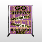 Hippos 45 Pocket Banner Stand