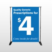 Pharmacy 334 Pocket Banner Stand