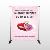Pink Rose Hide Ring 400 Pocket Banner Stand
