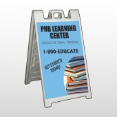 Book Learning 156 A Frame Sign