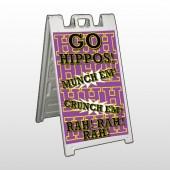 Hippos 45 A Frame Sign