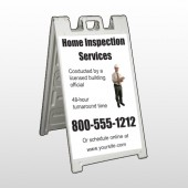 Inspection 360 A Frame Sign