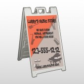 Larry Music Store 372 A Frame Sign