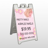 Nail Salon 291 A Frame Sign