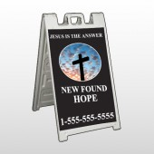 New Found Hope 01 A Frame Sign