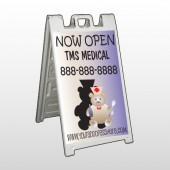 Nurse Bear 504 A-Frame Sign