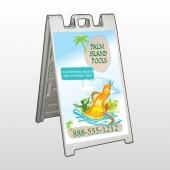Palm Island Pool 534 A Frame Sign