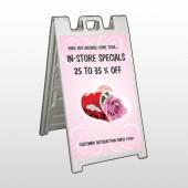 Pink Rose Hide Ring 400 A Frame Sign