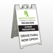 RX North County 105 A-Frame Sign