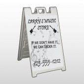 Silhouette Guitar 371 A Frame Sign