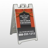 Theatre Curtains 521 A Frame Sign