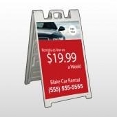 Car Rental 112 A Frame Sign