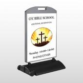 3 Crosses 149 Wind Frame Sign
