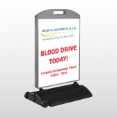 Blood Drive 330 Wind Frame Sign
