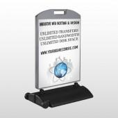 Business Global 438 Wind Frame Sign