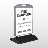 Car Park 122 Wind Frame Sign