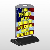 Flag 57 Wind Frame Sign