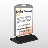 Flaming Suntan 298 Wind Frame Sign